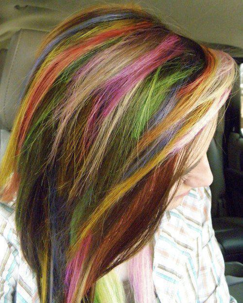 Mechas de colores con tiza Vs. permanente | 4LittleDots