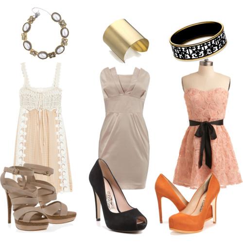 Accesorios para vestidos de fiesta coral