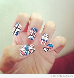 nail-art-azteca-tribal-decoracion-uñas
